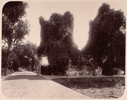 Agra. Ram Bagh. General view looking towards the entrance from the west